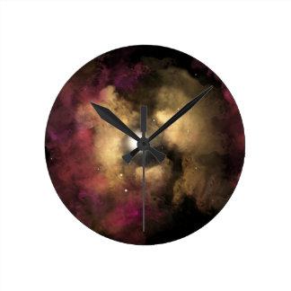 Star Birth Round Clock