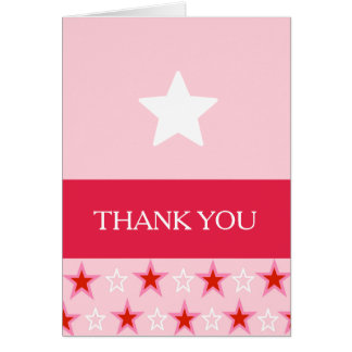 Star Birthday Girl, Thank You Card