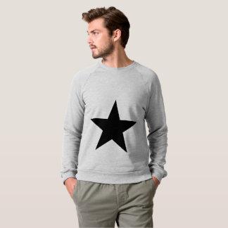 Star (black) / Men's American Apparel Raglan Sweat Sweatshirt