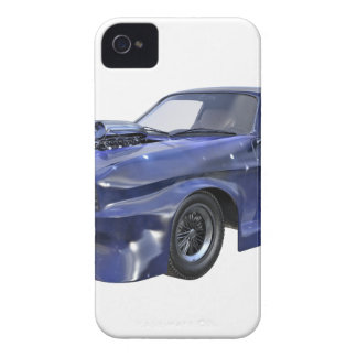 Star Blue Racing Car iPhone 4 Cover