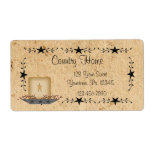 Star Border Candle Label