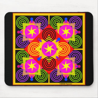 Star Box Geometric Mouse Pad