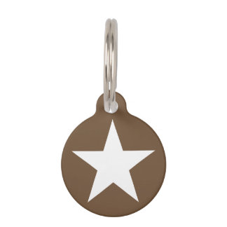 Star (brown) / Round Small Pet Tag