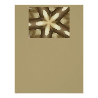 Star Brown White Rustic Design Colors Letterhead