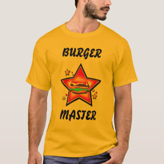 Star Burger Burger Master Mens T-shirt