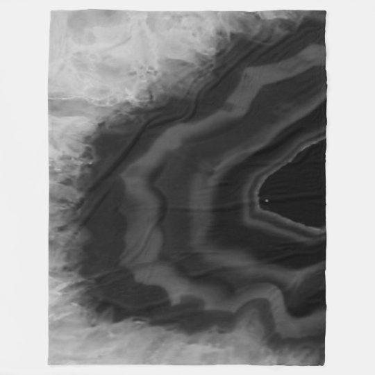 Star Burst Black Agate, Cool Natural Stone Unique Fleece Blanket