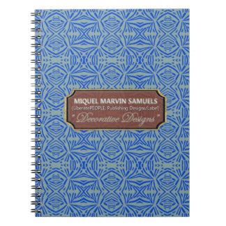 Star Burst Decorative Gray Blue Modern Notebook