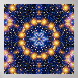Star Burst Mandala Poster