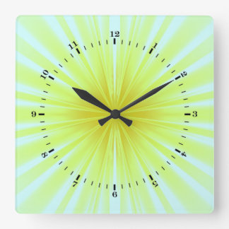 Star-burst Square Wall Clock