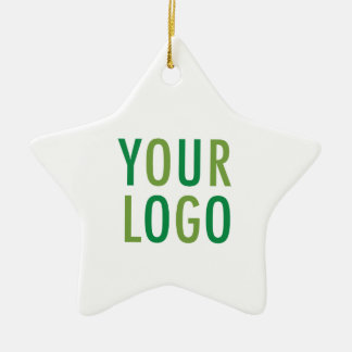 Star Ceramic Ornament with Custom Logo Branding