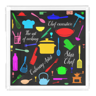 Star Chef funny, elegant, unique, customizable Acrylic Tray