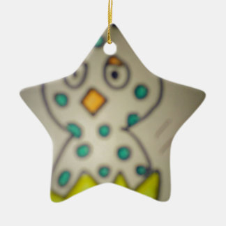 star chick in its shell ceramic star ornament