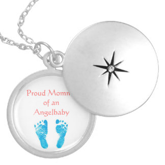 Star child intending chain silver plated necklace