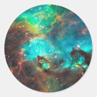 Star Cluster NGC 2074 Round Sticker