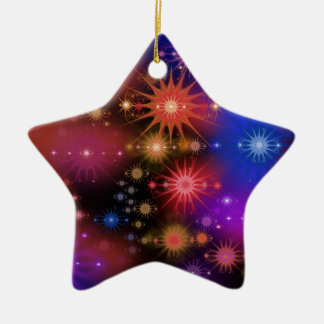 Star Clusters Ceramic Star Ornament
