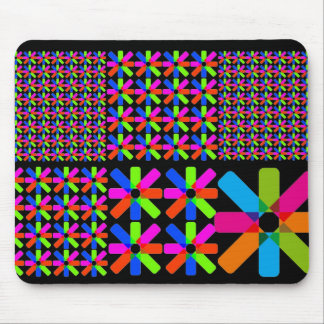star collage, black mouse pad