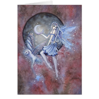 Star Collectors Fairy and Owl Fantasy Art Card