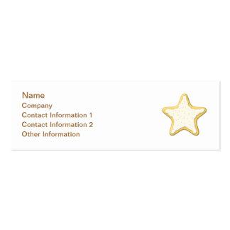 Star Cookie Design. Mini Business Card