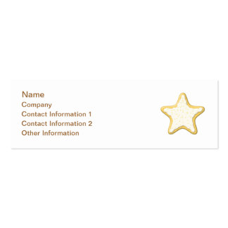 Star Cookie Design. Pack Of Skinny Business Cards