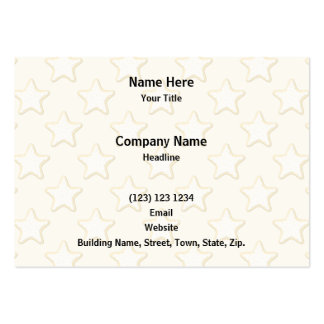 Star Cookies Pattern. Cream and Yellow. Large Business Cards (Pack Of 100)