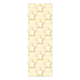 Star Cookies Pattern. Cream and Yellow. Double-Sided Mini Business Cards (Pack Of 20)
