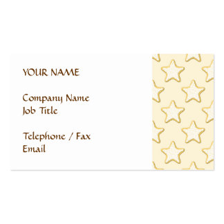 Star Cookies Pattern. Cream and Yellow. Pack Of Standard Business Cards