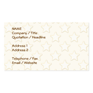 Star Cookies Pattern. Cream and Yellow. Double-Sided Standard Business Cards (Pack Of 100)