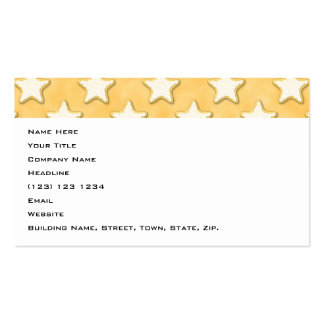 Star Cookies Pattern. Golden Yellow. Business Cards