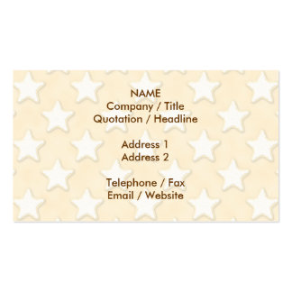 Star Cookies Pattern. Golden Yellow. Business Card