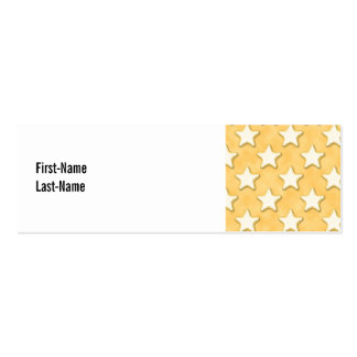 Star Cookies Pattern. Golden Yellow. Pack Of Skinny Business Cards
