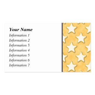 Star Cookies Pattern. Golden Yellow. Double-Sided Standard Business Cards (Pack Of 100)