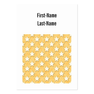 Star Cookies Pattern. Golden Yellow. Large Business Card