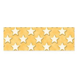 Star Cookies Pattern. Golden Yellow. Mini Business Card
