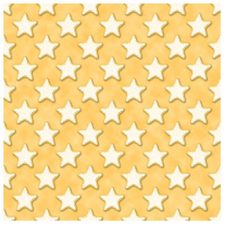 Star Cookies Pattern. Golden Yellow. Photo Cut Out