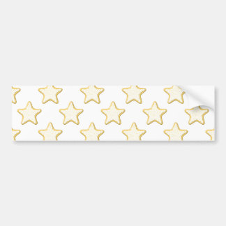 Star Cookies Pattern On White Bumper Sticker