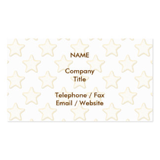Star Cookies Pattern. On White. Pack Of Standard Business Cards