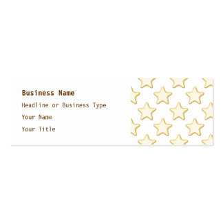 Star Cookies Pattern. On White. Pack Of Skinny Business Cards