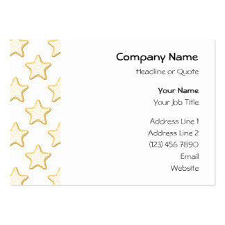 Star Cookies Pattern. On White. Pack Of Chubby Business Cards