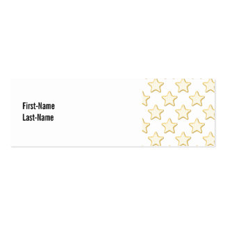 Star Cookies Pattern. On White. Double-Sided Mini Business Cards (Pack Of 20)