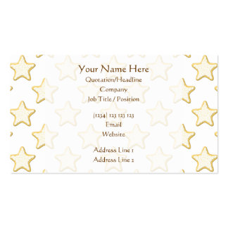 Star Cookies Pattern. On White. Double-Sided Standard Business Cards (Pack Of 100)