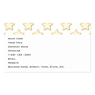 Star Cookies Pattern. On White. Business Cards