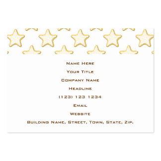 Star Cookies Pattern. On White. Large Business Cards (Pack Of 100)