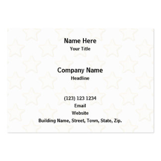 Star Cookies Pattern. On White. Large Business Card