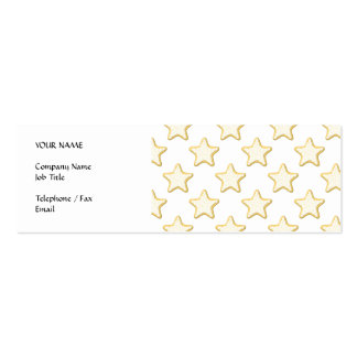 Star Cookies Pattern. On White. Mini Business Card