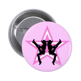 Star Cowgirls P Button