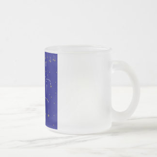 Star Dance 10 Oz Frosted Glass Coffee Mug