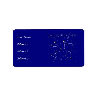 Star Dance Custom Address Labels