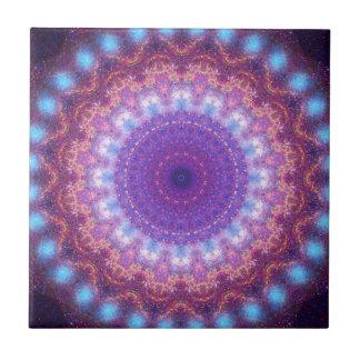 Star Dance Mandala Ceramic Tile