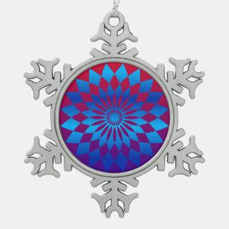 Star Design Pewter Snowflake Ornament