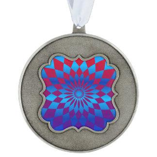 Star Design Scalloped Pewter Ornament